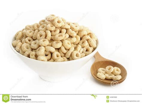 whole grains in cheerios bowl of cereal stock photo image 44387805