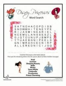 disney princess word crosswords disney crafts recherche par mots