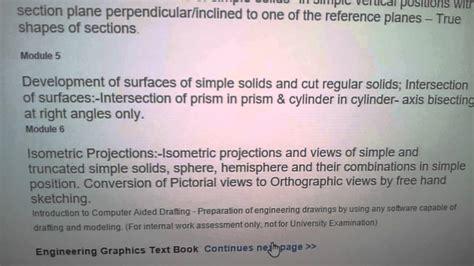 ktu reference book engineering graphics syllabus text book ktu