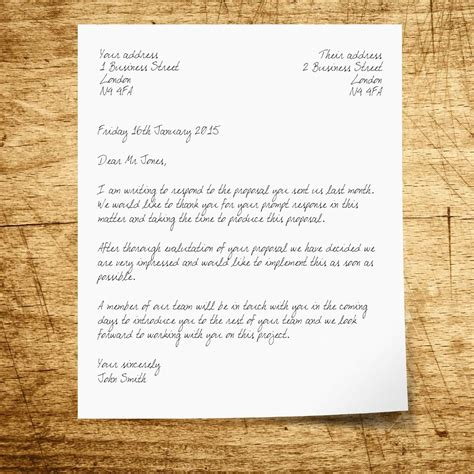 traditional business letter format business letter format
