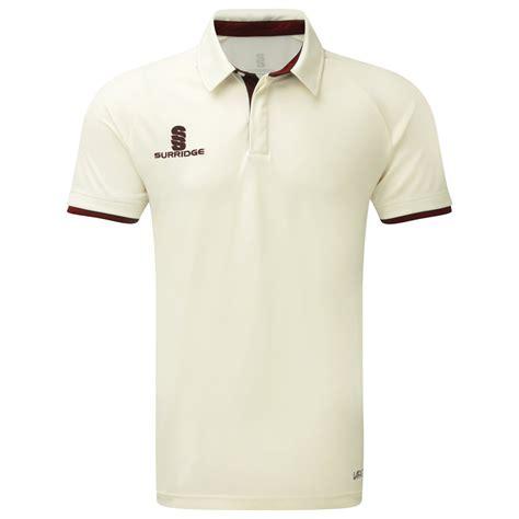 White Ergo Button Shirt surridge ergo cricket shirt supplied by gb kits