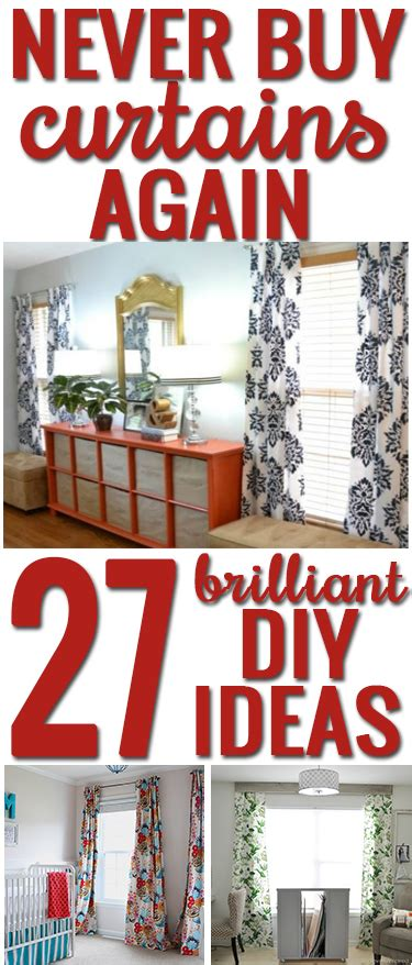 Best Way To Hang Curtain Rods how to make your own curtains 27 brilliant diy ideas and