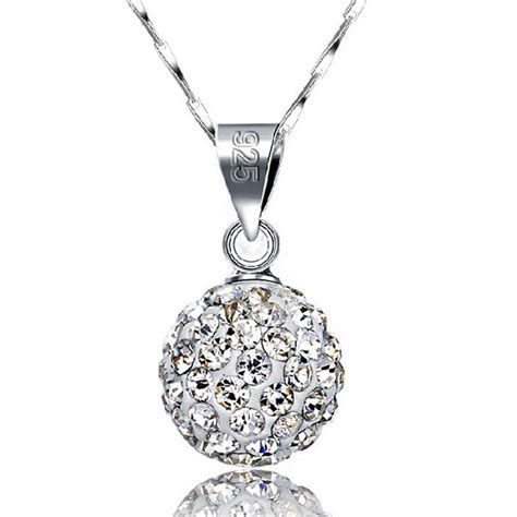 925 Silver Rhinestone Necklace fashion 925 sterling silver chain rhinestone