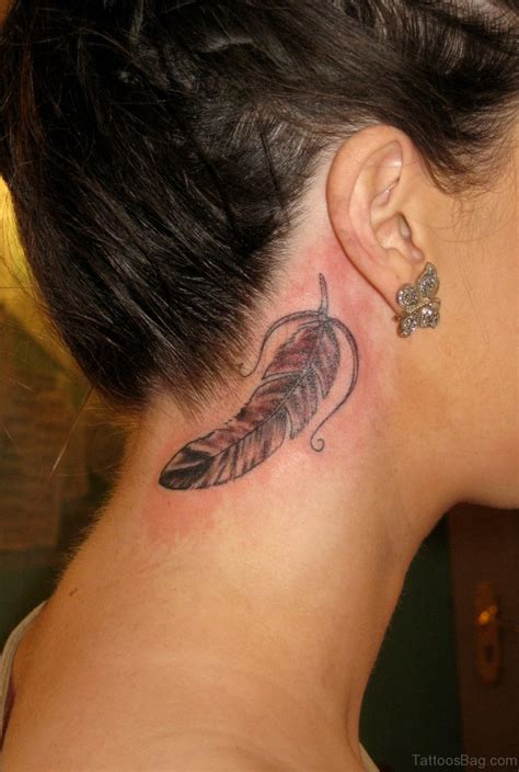 best looking tattoos 60 appealing feather tattoos on neck