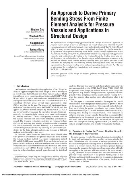 application design concepts and principles an approach to derive primary bending stress from finite