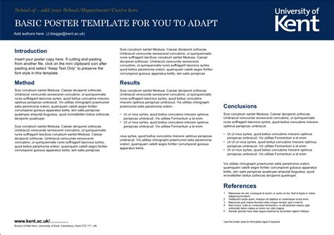 Posters University Of Kent Academic Poster Template