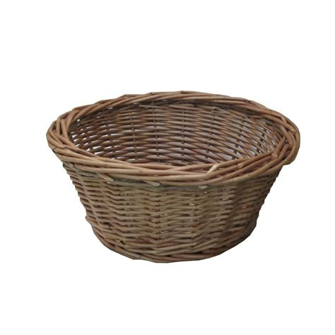 Wicker Kitchen Furniture by Buy Padstow Round Wicker Storage Basket Hamper Basket