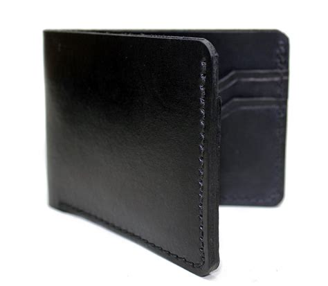 Handmade Leather Wallets Usa - handmade leather wallet mens bifold made in usa on storenvy