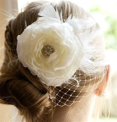 Vintage Wedding Hair With Flowers by Vintage Wedding Ivory Flower Hair Weddings White