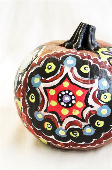 alisaburke painted pattern pumpkins