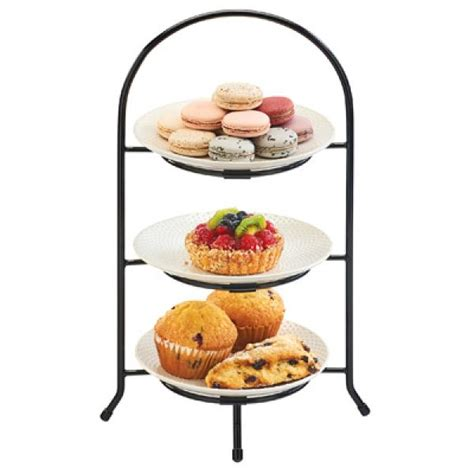 Snack Server 3tier 3tingkat Cst tiered display server 3 tier arched frame type 6 quot ring