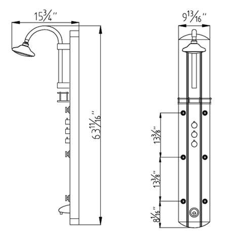 Sprei Dreamline dreamline shcm 23580 hydrotherapy shower column w shower