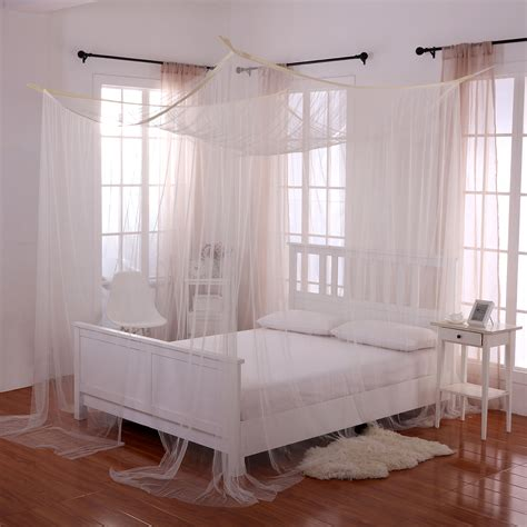 canopy bed casablanca palace 4 post bed sheer panel canopy