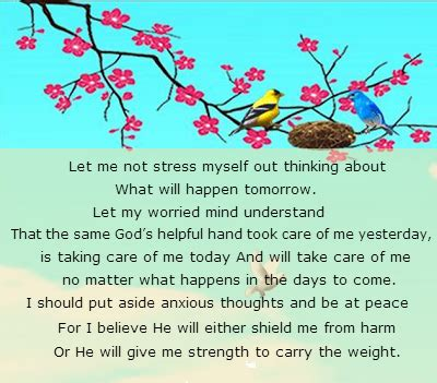 Comforting Words For Anxiety by Prayer For Strength Quotes Quotesgram