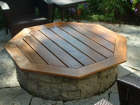 Firepit Cover Teak Pit Cover Table Outdoors