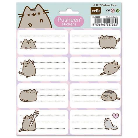 imagenes para etiquetas escolares juveniles etiquetas pusheen the cat nosoloposters com