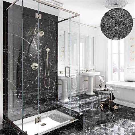 Salle De Bain Marbre Noir le luxe du marbre noir dans la salle de bain salle de