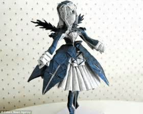 Origami Person - origami creatures made from a of paper by talented
