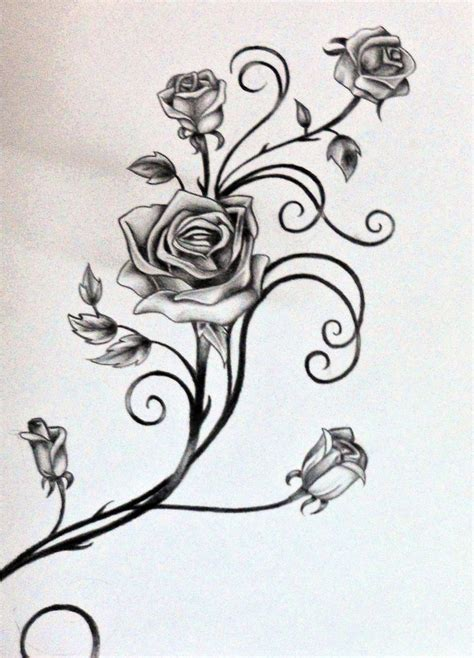 rose vine tattoos on arm image result for and vine designs roses