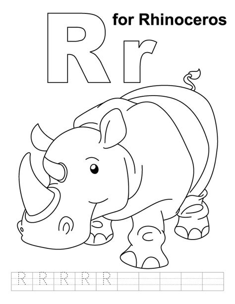 R Is For Rainbow Coloring Page by R Is For Rainbow Coloring Pages