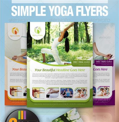 free templates for yoga flyers newsletter templates yoga and flyers on pinterest