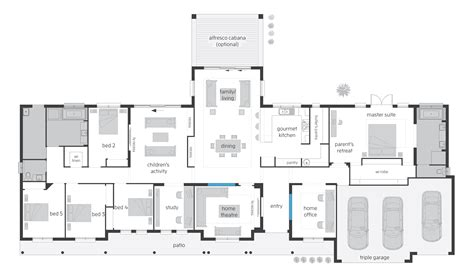 australian home plans floor plans unique house plans