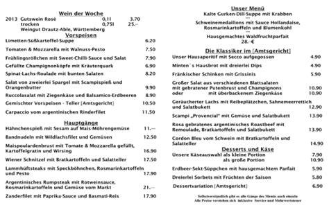 haus 5 speisekarte restaurant amtsgericht deutsche restaurants b 252 rgerliche
