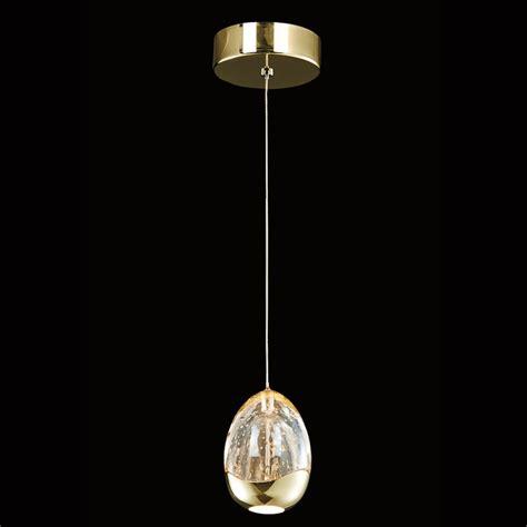 Terrene Gold 1 LED Pendant Light   Nicholas John Interiors