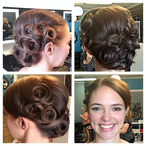 hairstyles using pin curls vintage pin curl updo hair by talie pinterest pin