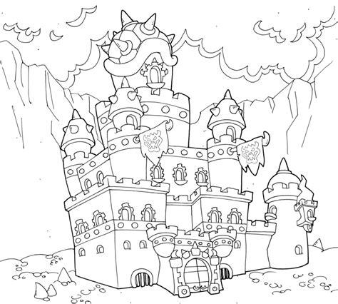 mario castle coloring pages mario bowser castle coloring pages sketch coloring page