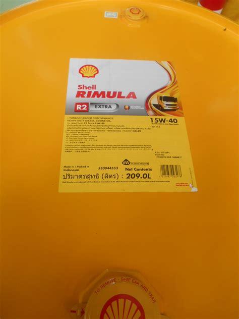 Shell Rimula R2 1 shell rimula r2 15w 40 209 l 1 drum sejahtera