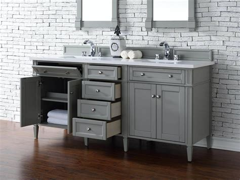 Bathroom Vanity No Top Contemporary 72 Inch Sink Bathroom Vanity Gray Finish No Top