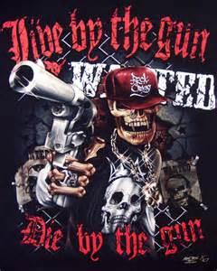 glow tattoo skeleton gangster handgun t shirt gangster mens t shirts tattoo biker rock