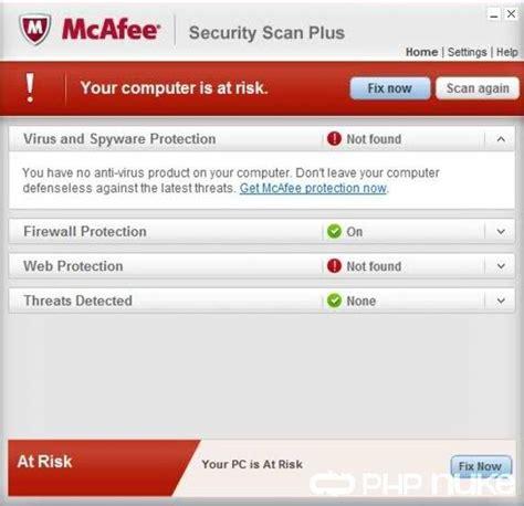 Antivirus Mcafee Security mcafee security scan plus 3 0 318 3 free version in on phpnuke