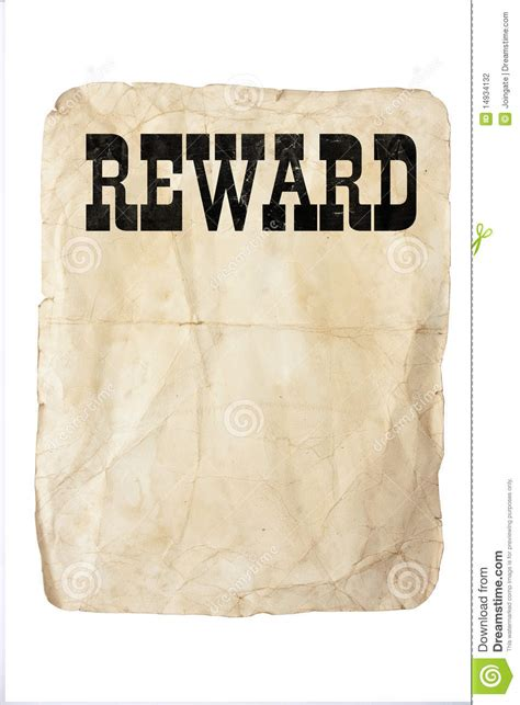 reward poster stock photography image 14934132