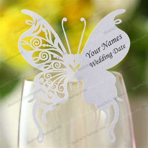 Aliexpress.com : Buy Wedding place cards for wine glass