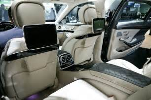 Mercedes S600 Interior 2015 Mercedes S600 Rear Interior Photo 5