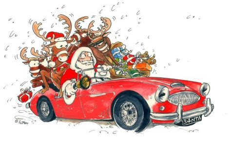 harley ann wolf christmas for two christmas cards austin healey club thames valley centre