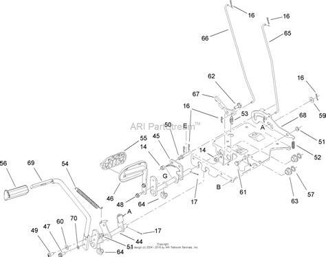 brake pedal diagram toro 13ap60rp744 lx500 lawn tractor 2006 sn 1a096b50000