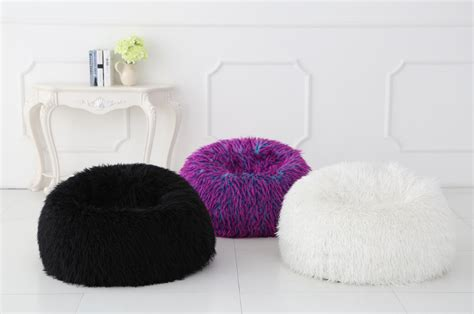 shaggy bean bag chair new multi colour faux fur bean bag chairs ebay