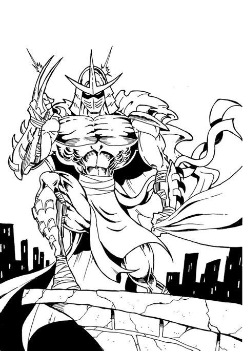 teenage mutant ninja turtles shredder coloring pages shredder from tmnt by manthomex on deviantart