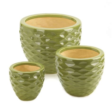 Wholesale Planters And Containers by Home Locomotion Ceramic Green Planter Set Planters And