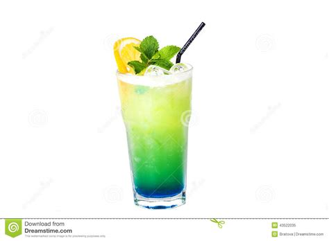 green cocktail black background blue green cocktail with orange and mint stock photo