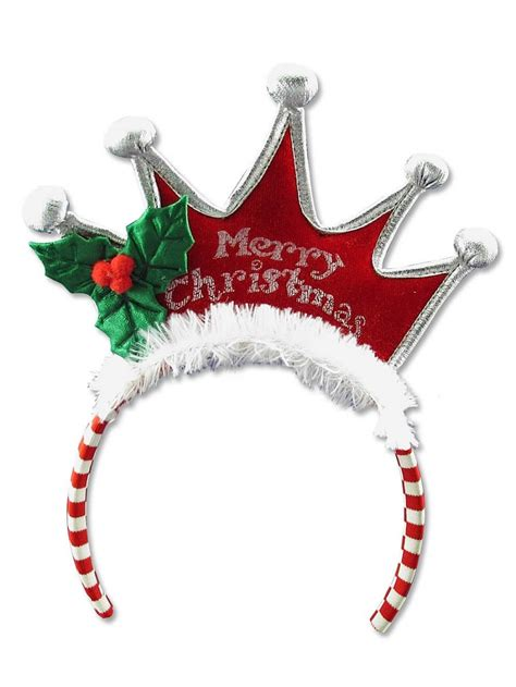 merry christmas tiara headband 25cm santa hats suits