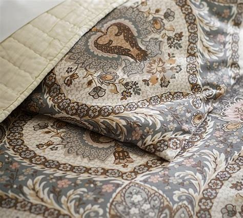 Duvet Cover With Ties Darcy Printed Duvet Cover Amp Sham Pottery Barn