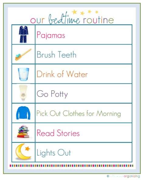printable toddler routine chart free routine printables and more kids activities