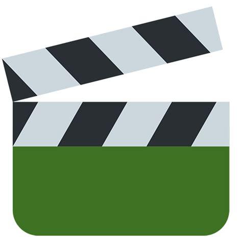 film clapper board emoji clapper board emoji for facebook email sms id 11723