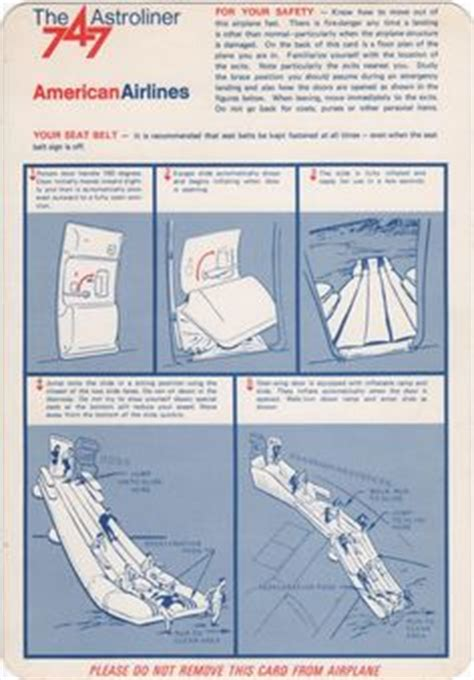 airline safety card template airline safety cards on safety air and