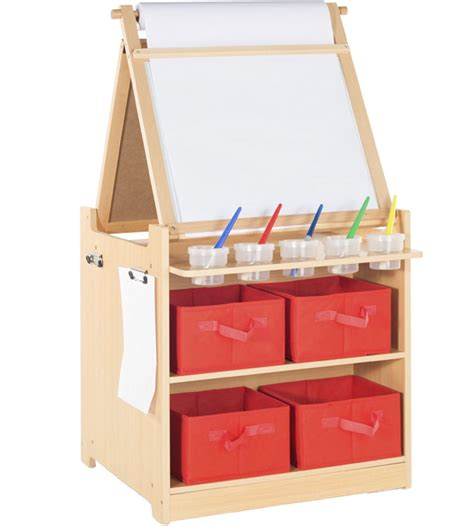 Desk To Easel Art Cart In Kids Desks Easel Desk
