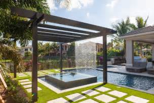 Pots For Patios Trellis Pergolas Contemporary Pool Miami By